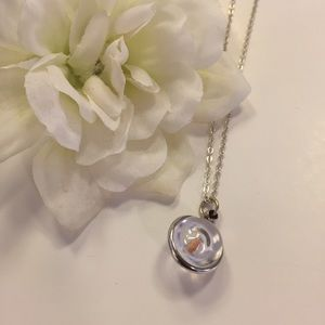 Mustard Seed Silver Pendant Necklace